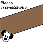 Fleece cremeschoko